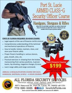 armed security guard class g course Melbourne